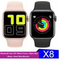 Relógio smartwatch x8 com 2 pulseiras mais 1 brinde surpresa