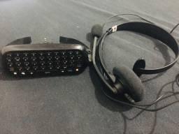 teclado e fone para xbox 360