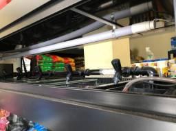 Aquário Expositor para Comércio, 3 Andares, 12 repartições, iluminação, bombas, termostato