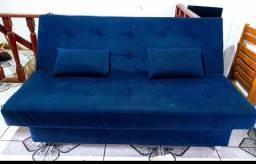 Vendo sofá cama com 2 almofadas
