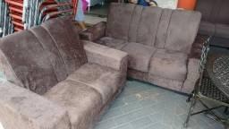 Sofá 3 e 2 lugares novo tecido de suede