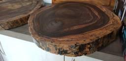 Tabua Para Corte Madeira Rustica Ipê 54 X 54 X 8cm