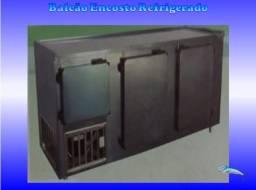 Balcão Encosto em Aço Inox * Refrigerador 03 Portas *