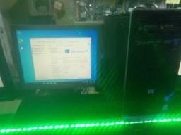 Computador completo com monitor teclado e mouse Windows 10
