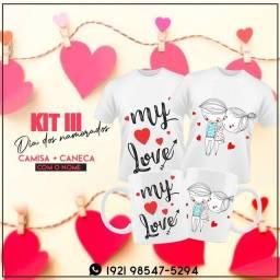 KIT 2 canecas - Duas Camisas - Dia dos namorados