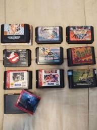 Jogo originais de Mega Drive: Ghostbusters e Tatsujin (Truxton)