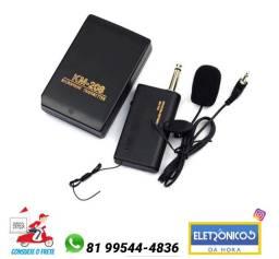 Microfone de lapela sem fio Transmissor + Receptor Sem Fio Microfone só Zap