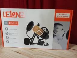 ProMoção: Microfone Condensador De Estudio Profissional Podcast, completo