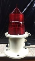 Luminária de Sinalização Naval Vermelha