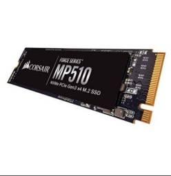 SSD Corsair MP510 480GB M.2 NVMe Leitura 3480MB/s Gravação 2000MB/s CSSD-F480GBMP510