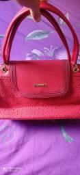 Bolsa em couro Vermelha
