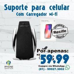Suporte de Celular com Carregador Wi-Fi (Entrega Grátis)