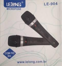 microfone duplo lelong