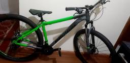 Bicicleta Aro 29 - Cinza com Verde