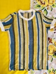 Título do anúncio: Camisa Estampada em linho PARGAN (P)