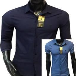 Camisa social slim fit masculina