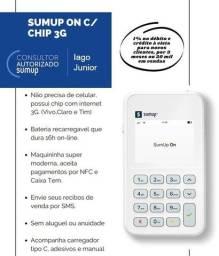 Máquininha de cartão de crédito sumup ON (Chip)