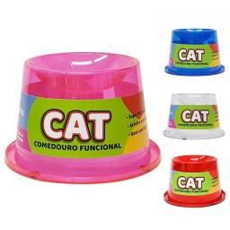 Título do anúncio: Comedouro elevado para gato  com gliter