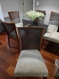 Título do anúncio: Mesa de jantar e cadeiras (6 lugares)