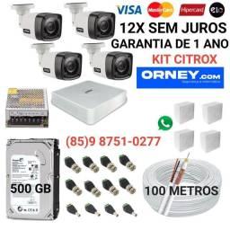 Título do anúncio: Câmeras... kit de 4 câmeras CITROX em 12X SEM JUROS.