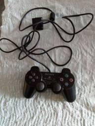 Controle de vídeo game foncionando marca Sony