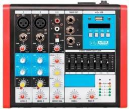 Mesa de Som Soundvoice 4 Canais MC4 EUX Novo + Garantia NF