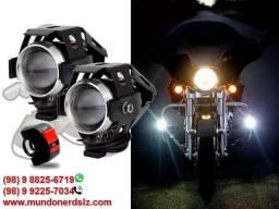 Farol de Led Milha Luz Auxiliar Neblina 1200 2p para Moto em São Luís MA