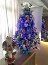 Árvore de Natal - 1.20mt - Azul/Rosa/Branco