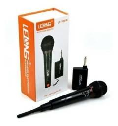 Microfone Le996w Sem Fio Lelong Vocal Festas E Palestras