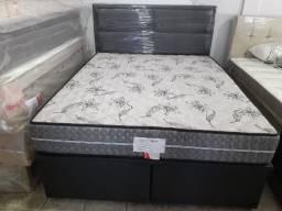 = Box baú + colchão prorrelax 158X198 mega promoção