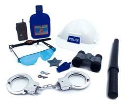 Kit policia detetive c/12 peças-brinquedos
