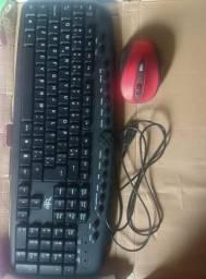 Teclado multimídia keyboard acompanhado com Mouse sem fio Multilaser novo