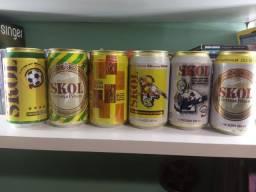 Set Skol Anos 90 Coleção Latas Cervejas Nacionais