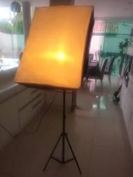 Kit De Iluminação P Estúdio Fotográfico Com Softbox Pk Sb03