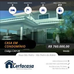 CA0126e - Linda casa duplex no Blue Garden