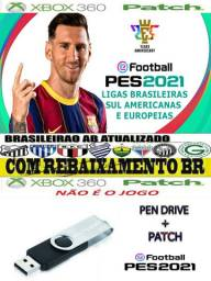 Pen Drive 16GB + Patch Efootball 2021 Para Pes 2018 Xbox 360