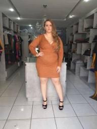 Vestido em suedy - Morena Plus Size
