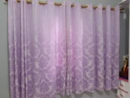 Cotina côr de rosa para quarto infantil feminino