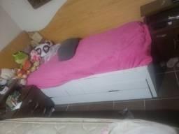 Cama solteiro MDF gaveteiro cama abaixo