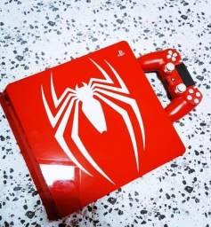 Título do anúncio: Ps4 Slim 1 TB Versão Spider Man