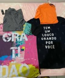 Pra vender rápido, 4 camisas + perfume (nunca usado), tudo por 200 reais