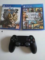 Título do anúncio: 2 Jogos PS4 + Controle original