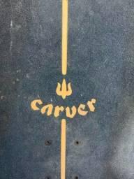 Skate Carver Fractal Original C7 + Caixa Abec 9 Blue zerado