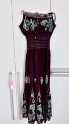 Título do anúncio: Vestido de alça hippie roxo longo