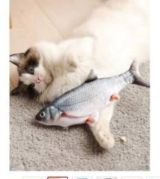 Brinquedo Interativo P/ Gatos Peixe Que Se Mexe