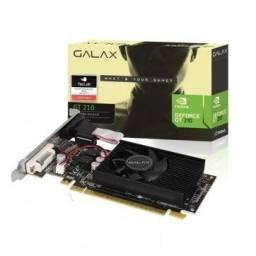 Placa de Vídeo GeForce GT 210 1GB Galax ddr3 64 Bits Vga Dvi Hdmi, Nova (lacrada),