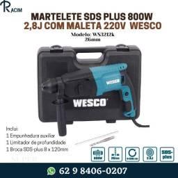 Título do anúncio: Promoção... Martelete SDS Plus Perfurador 800W 2,6J  26mm com Maleta Wesco... Confira!