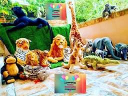 Aluguel bichos de Pelúcias, Safari, Rei Leão, Arca de Noé