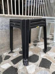 Nova mesa plástica cor preta promoção