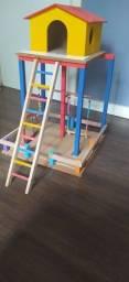 Playground casinha para calopsita